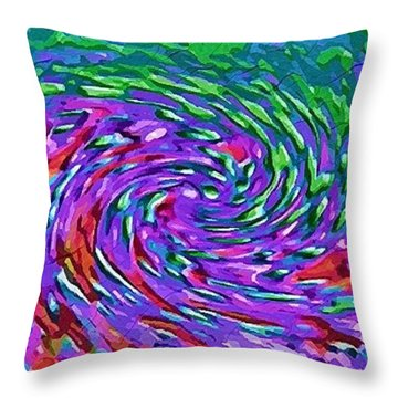 Throw Pillow featuring the digital art Waterspout by Alec Drake
