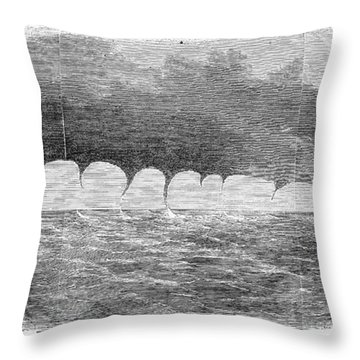 Waterspouts, 1856 Throw Pillow by Granger