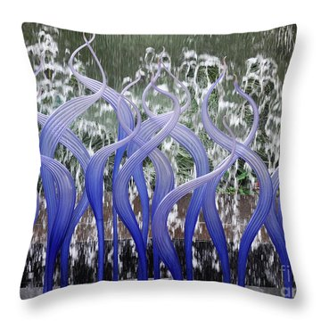 Waterwall Pirroette Throw Pillow