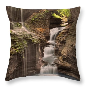 Watkins Glen Gorge Throw Pillow