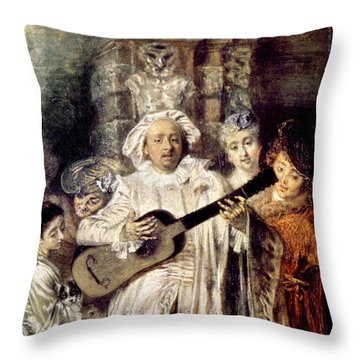 Watteau: Gilles & Family Throw Pillow by Granger