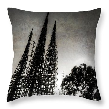 Watts Towers Throw Pillow