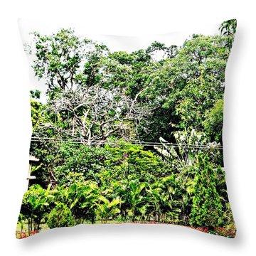 Watz Odd Here Throw Pillow by Piety Dsilva