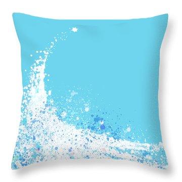 Wave Throw Pillow by Setsiri Silapasuwanchai
