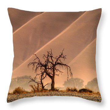 Wave Tree Throw Pillow