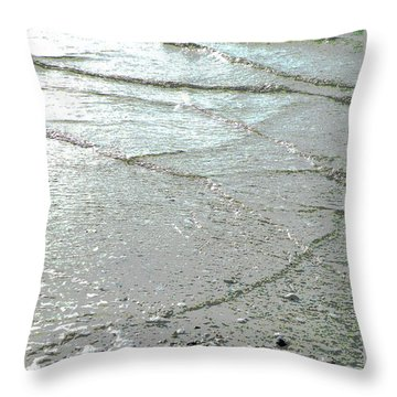 Wave Weaving Throw Pillow by Joe Jake Pratt
