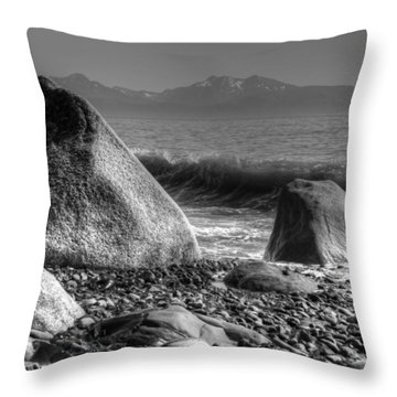 Throw Pillow featuring the photograph Waves At Diamond Beach by Michele Cornelius