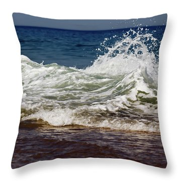 Waves In Motion Throw Pillow