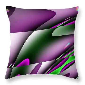 Waves  Throw Pillow by Mark Moore