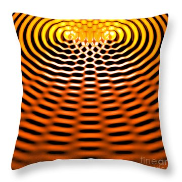 Waves Superpositioning 4 Throw Pillow by Russell Kightley