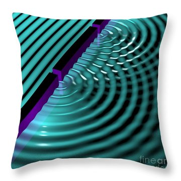 Waves Two Slit 3 Throw Pillow