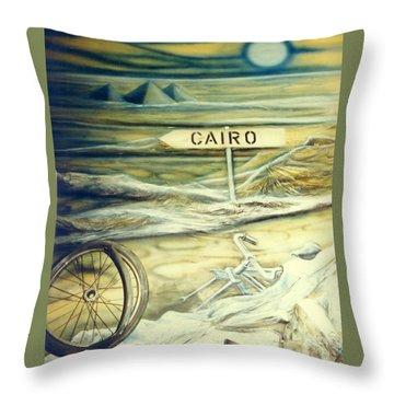 Way To Cairo Throw Pillow