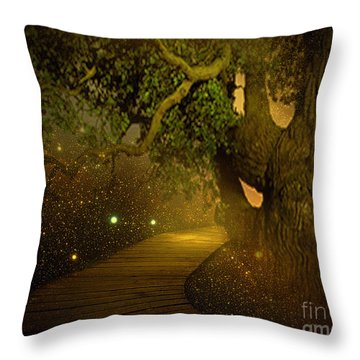 Way To Heaven Throw Pillow by Ester  Rogers