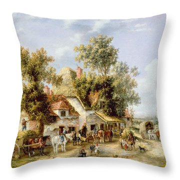 Wayside Inn Throw Pillow by Georgina Lara