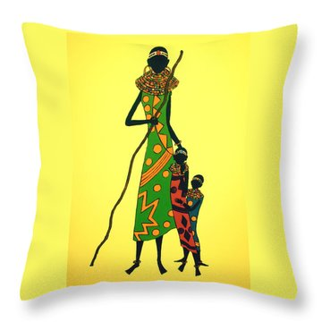 We Are Hungry Throw Pillow by Stephanie Moore
