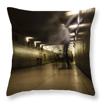 Throw Pillow featuring the photograph We Walk Among Them by Marta Cavazos-Hernandez