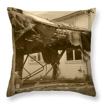 Throw Pillow featuring the photograph Weathered And Blown To Pieces by Kym Backland