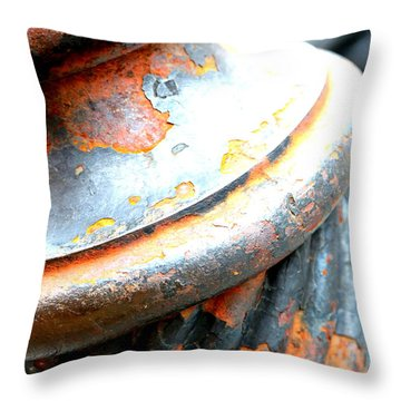 Weathered Column  Throw Pillow by Carol Groenen
