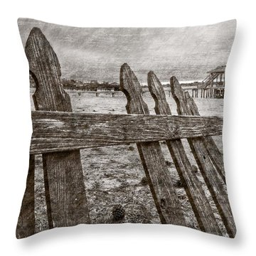 Weathered Throw Pillow by Debra and Dave Vanderlaan