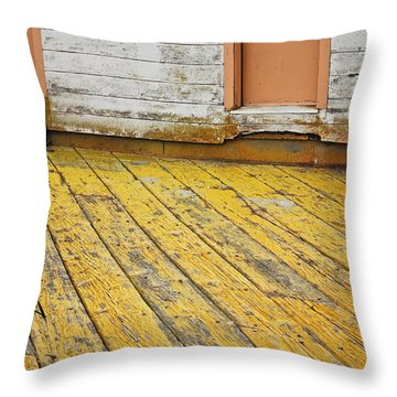 Weathered Monterey Building Throw Pillow