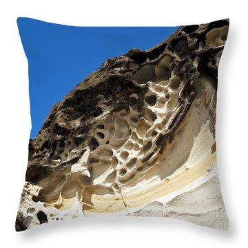 Weathered Sandstone Throw Pillow by Kaye Menner