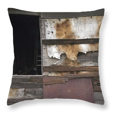 Weathered Shed Throw Pillow