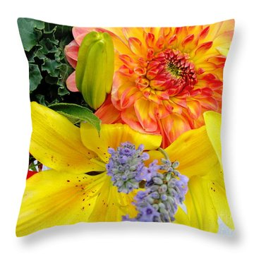 Wedding Flowers Throw Pillow by Rory Sagner