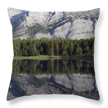 Wedge Pond, Mount Kidd, Kananskis Throw Pillow by Michael Interisano