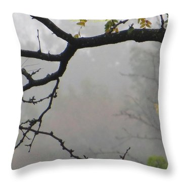 Wednesday Mist Throw Pillow by Sonali Gangane