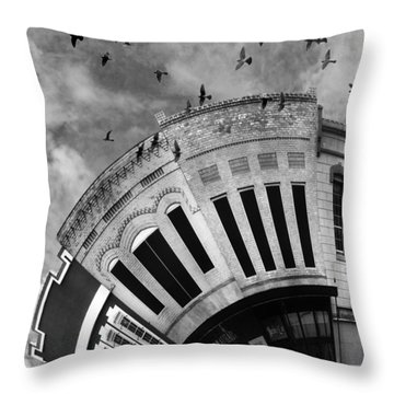 Wee Bryan Texas Detail In Black And White Throw Pillow by Nikki Marie Smith