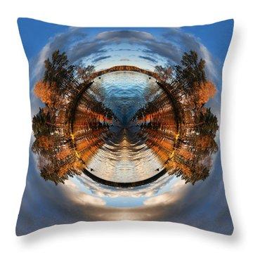 Wee Lake Vuoksa Twin Islands Throw Pillow by Nikki Marie Smith