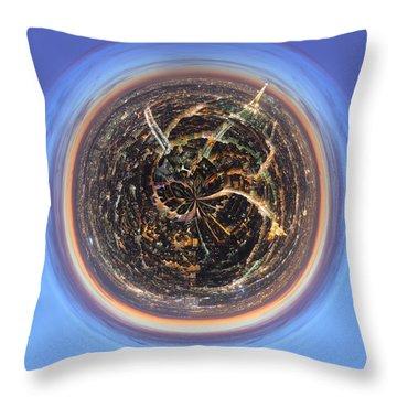Wee Paris Twilight Planet Throw Pillow by Nikki Marie Smith