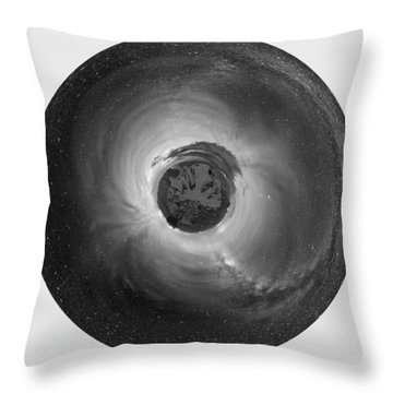 Wee Sequoia Night Sky Planet View Throw Pillow by Nikki Marie Smith