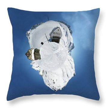 Wee Winter Hotel Throw Pillow by Nikki Marie Smith