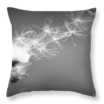 Throw Pillow featuring the photograph Weed In The Wind by Deniece Platt