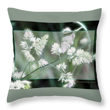 Throw Pillow featuring the photograph Weeds by EricaMaxine  Price