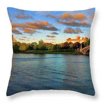 Weeks' Bridge Panorama Throw Pillow by Rick Berk