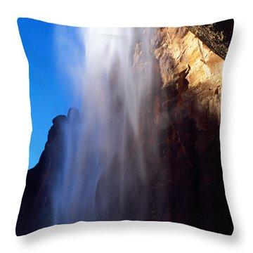 Weeping Rock Waterfall Throw Pillow