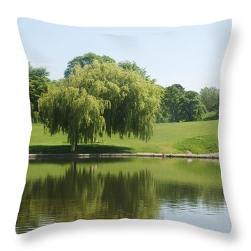Weeping Willow Tree.  Throw Pillow