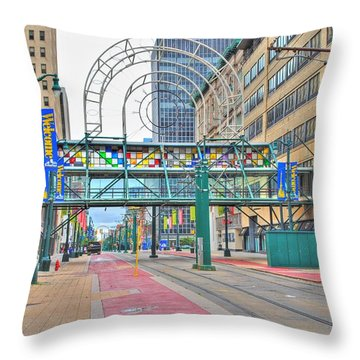 Throw Pillow featuring the photograph Welcome No 2 by Michael Frank Jr