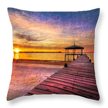 Welcome The Morning Throw Pillow by Debra and Dave Vanderlaan