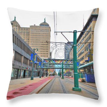 Throw Pillow featuring the photograph Welcome To Dt Buffalo by Michael Frank Jr