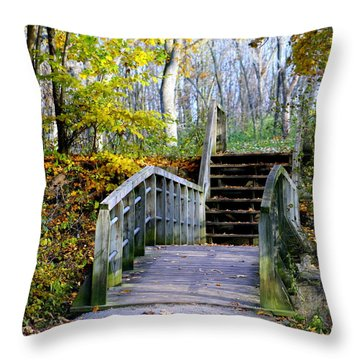 Welcome To My World Throw Pillow by Kay Novy