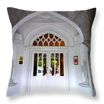 Throw Pillow featuring the photograph Welcome To The Manor by Charlie and Norma Brock