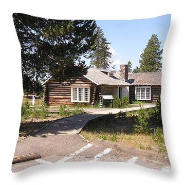 Welcome To The Museum Of The National Park Ranger Throw Pillow by Feva  Fotos