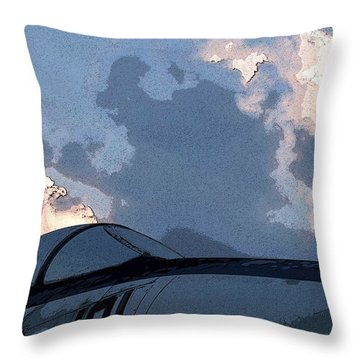 Throw Pillow featuring the photograph Welcome To Thunderstorm Cafe by Carolina Liechtenstein