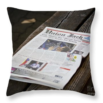 Well Done Andy Murray Throw Pillow by Chris Dutton