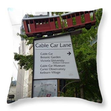 Wellington Cablecar Throw Pillow by Carla Parris