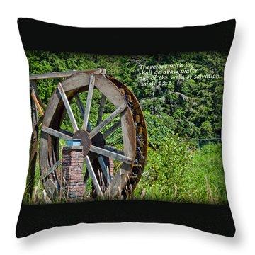 Wells Of Salvation Throw Pillow