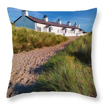 Welsh Cottages Throw Pillow by Adrian Evans